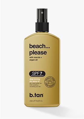 beach please... SPF7 tanning oil
